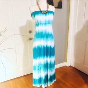 Viscose Strapless Dress & Maxi Skirt